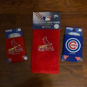 St. Louis Cardinals Golf towel and can koozie